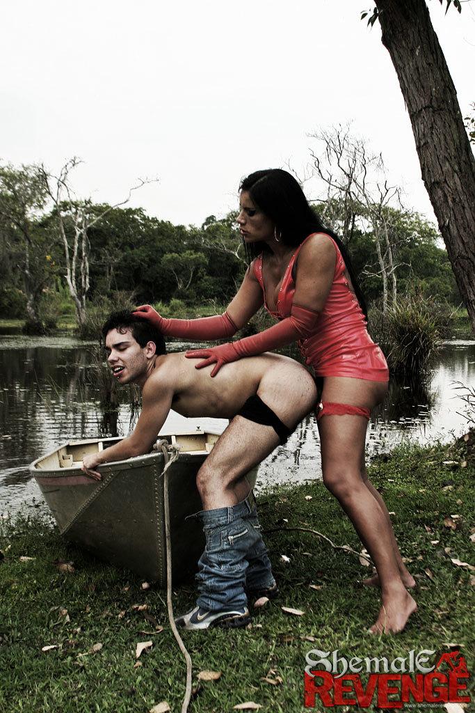 Aline Ganzarolli Destroys A Dude By The Lake