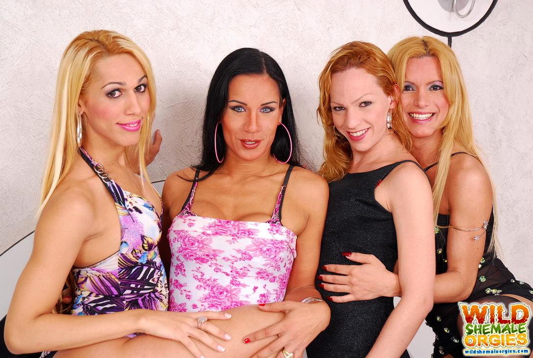 Aline Ganzarolli In TGirl Foursome