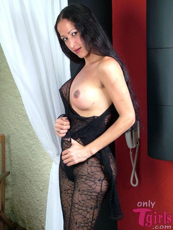 ana paula oliveira black body stocking stroking her penis