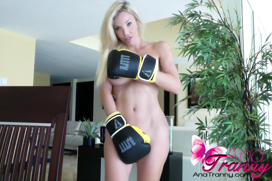 athletic tgirl is ready to knock you out with her nakedness