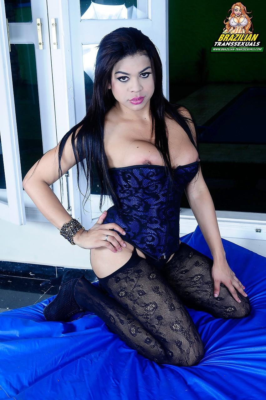 Attractive Transexuals Aline Diniz And Luandra Alves Banging