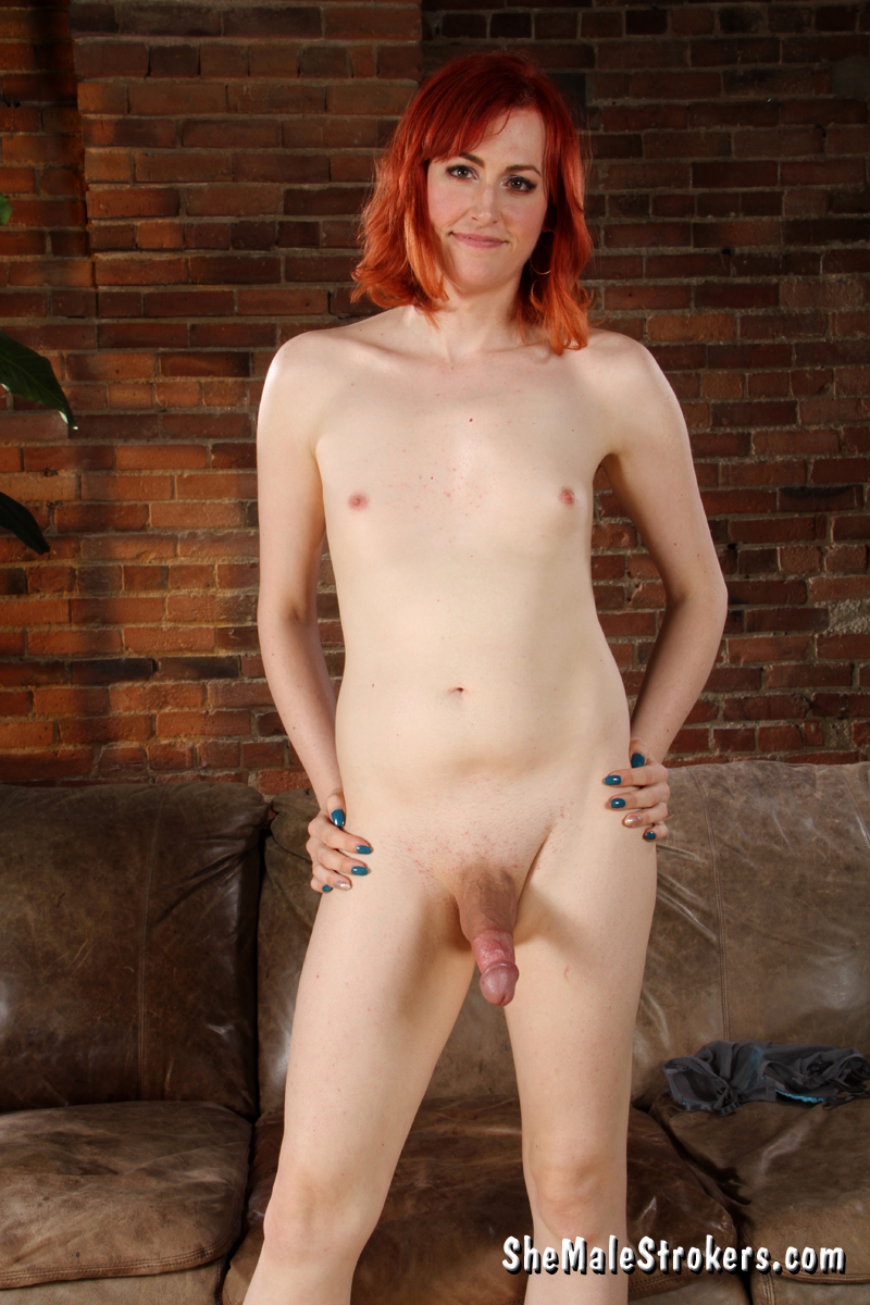 aurora summers ginger t girl stroking in blue pants