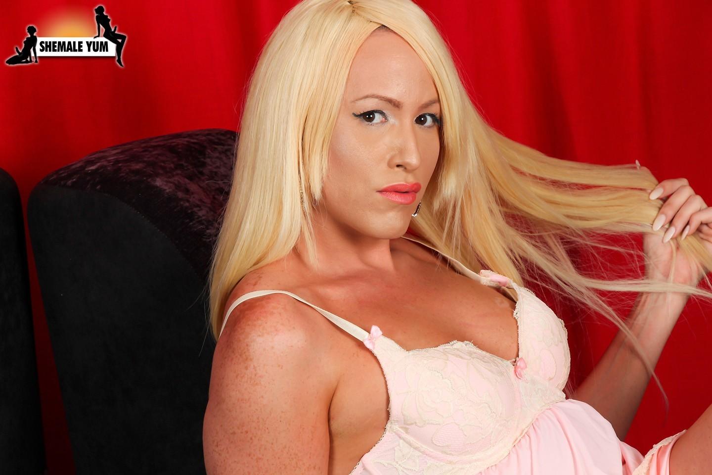 Barbie Tiara Posing In Seductive Pink Doll Skirt