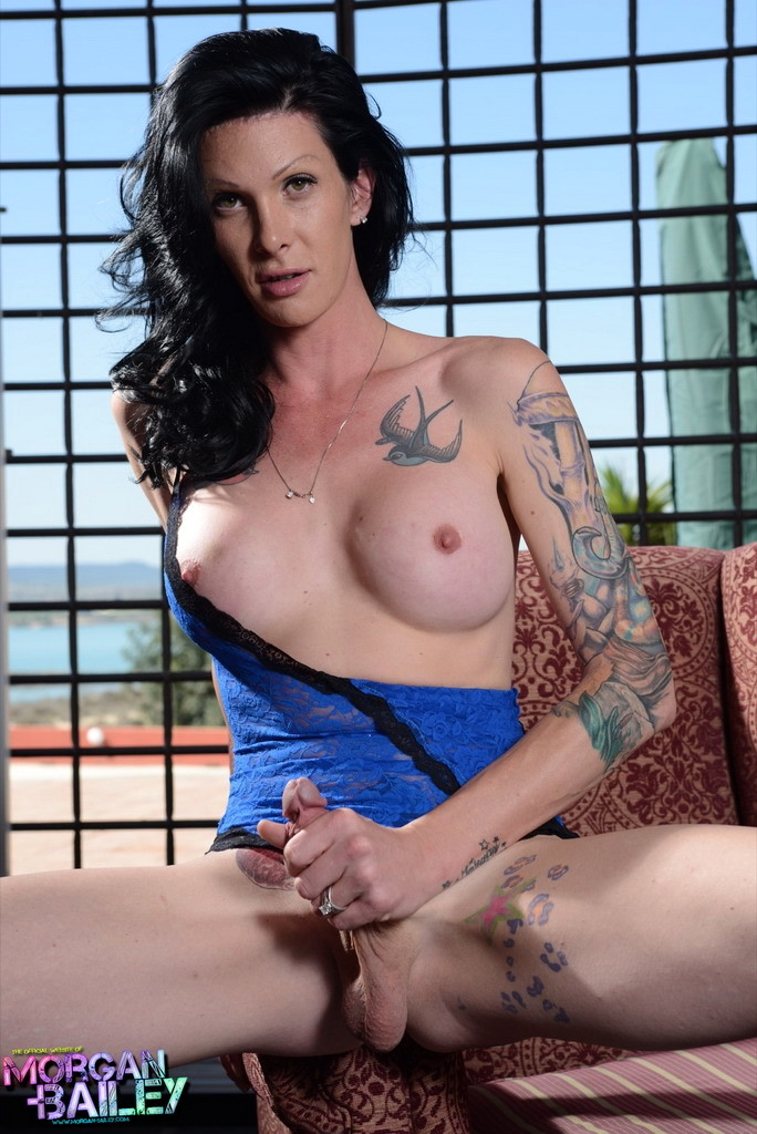 Beautiful Morgan Posing In Blue Lace