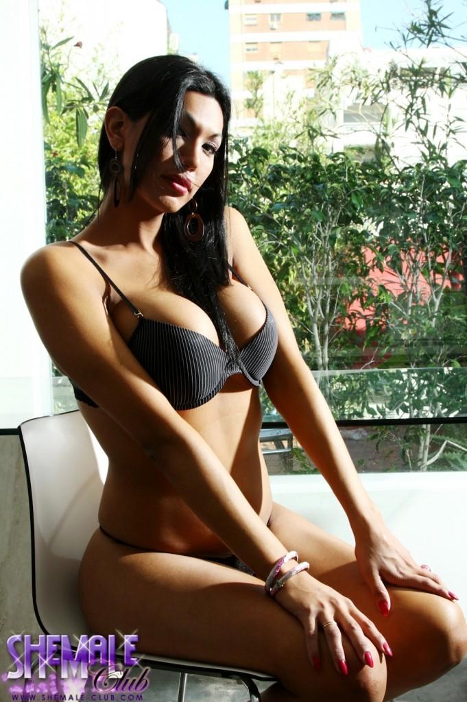 Beautiful Natalia In Black Panties On The Balcony