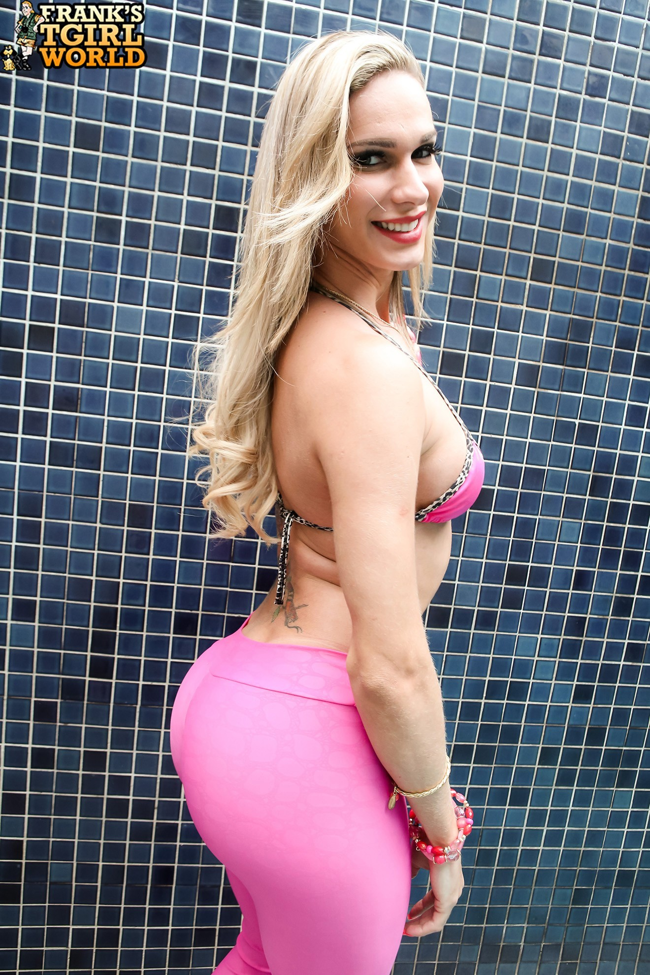 bianca sereia spicy in pink swimsuit