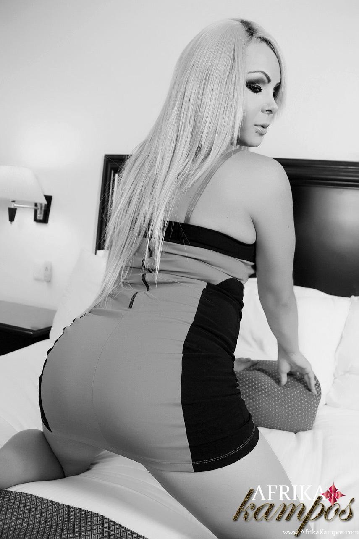Black And White Photos Of Inviting Ladyboy