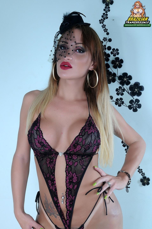 brazilian transexual has voluptuous tan lines
