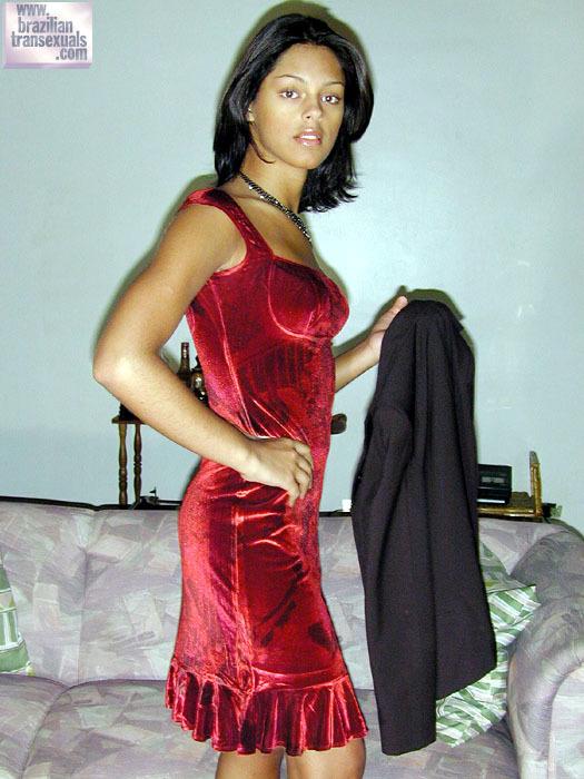 Camila De Castro In Red Skirt