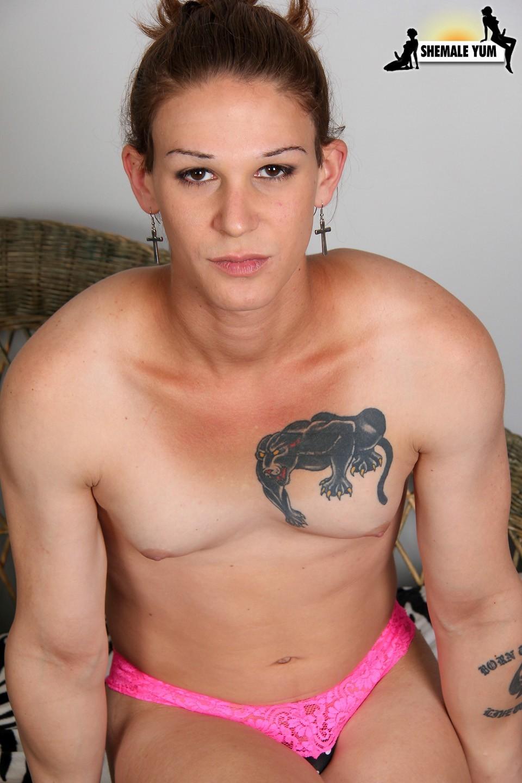 donna abelar exposing her pink lingerie