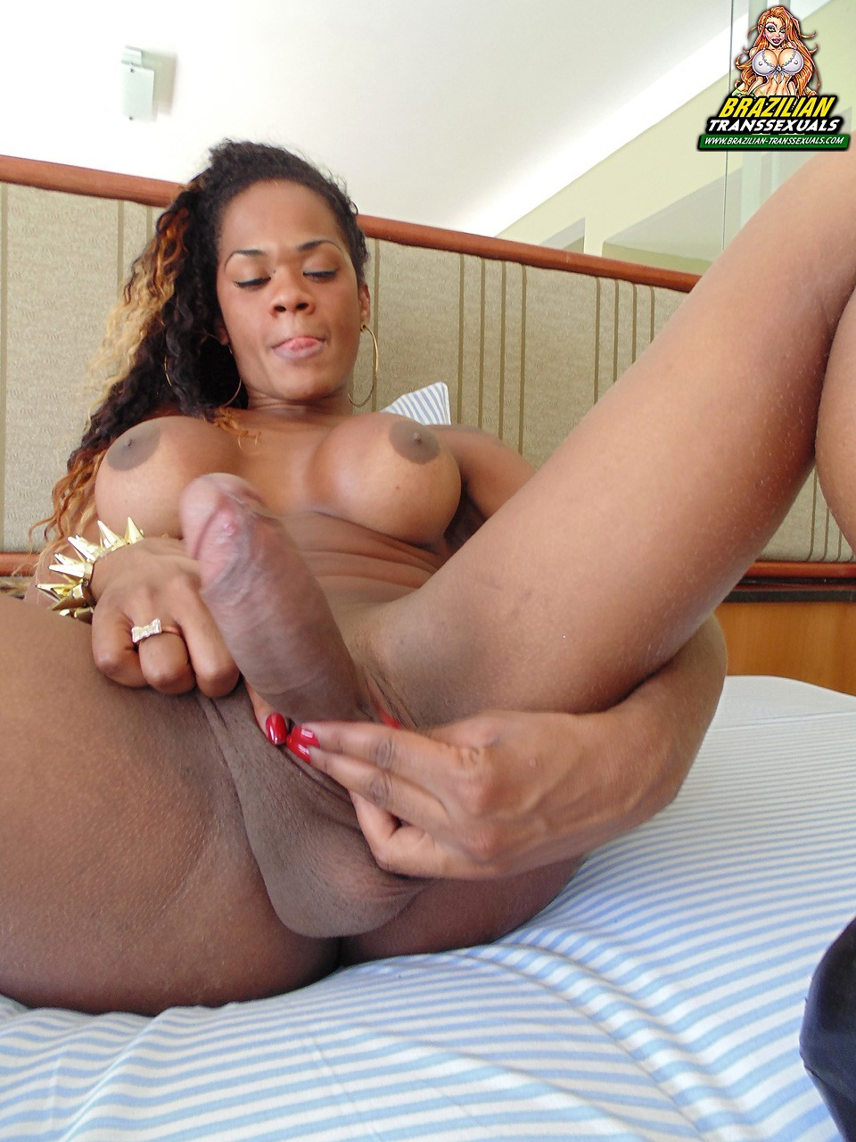 ebony shemale carol dias from brazil posing her big tool