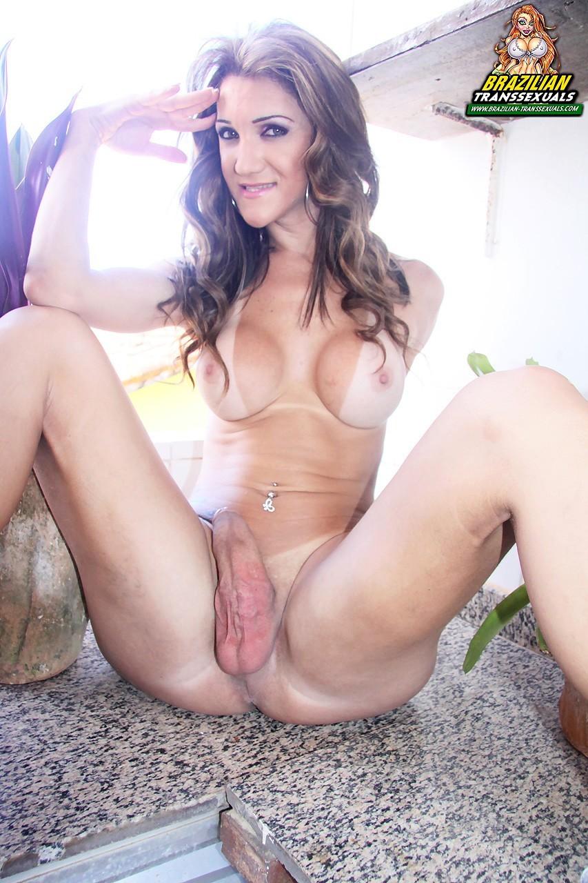 Fernanda Lohany Hiding Her Massive Dick In Pink Bikin I