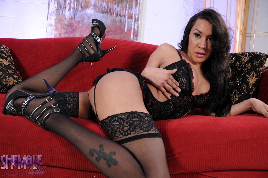 Gorgeous Ximena Stroking Her Massive Penis