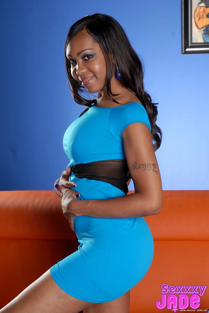 Her Blue Skirt