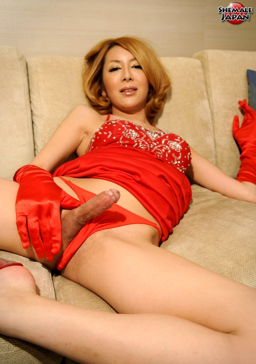 hime tsukino posing in arousing red outfit
