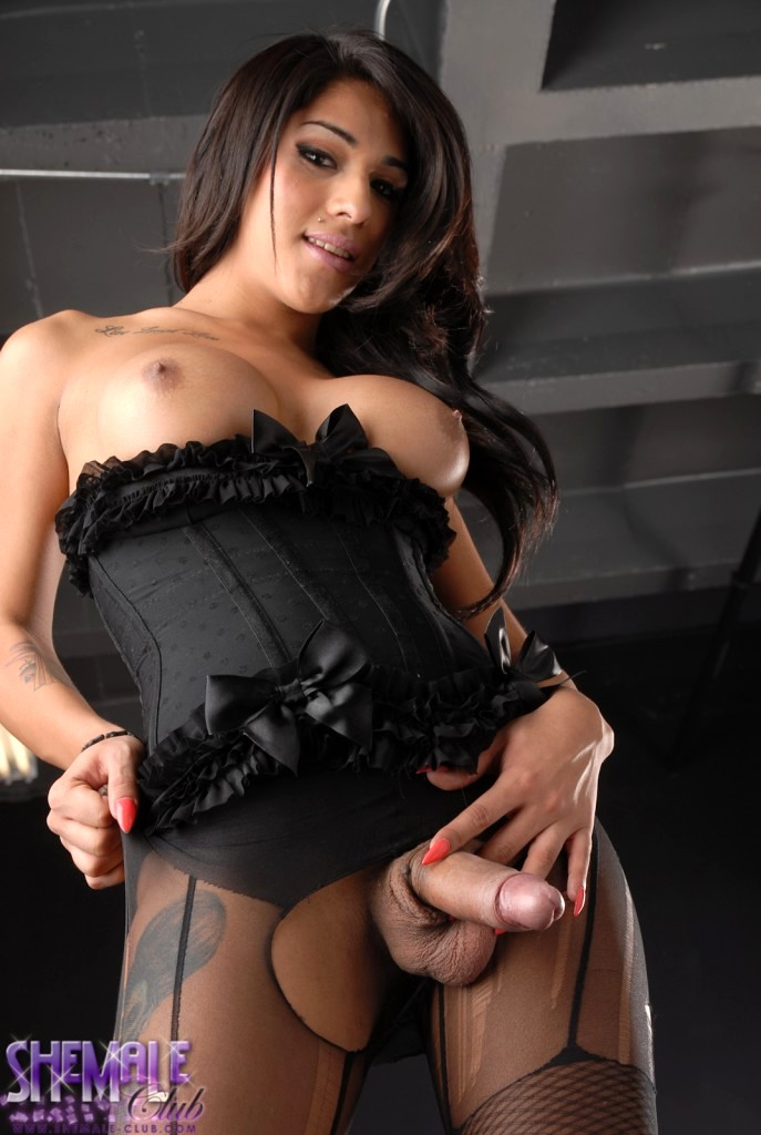 Jane Marie Teasing In Sensual Black Corset
