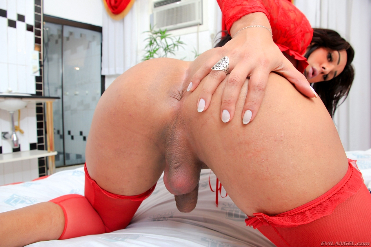 julia mello kissable in red stockings and corset