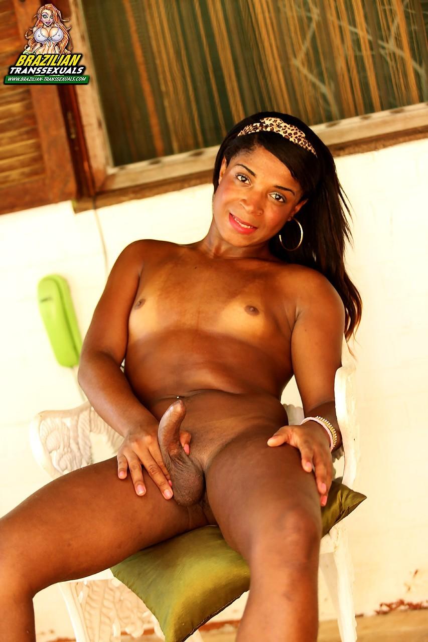 Juliana Luiza Arousing Tgirl Stroking Her Dick