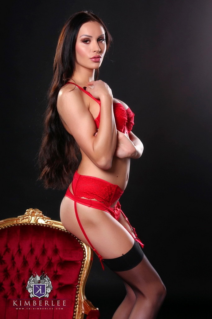kimber lee in red panties black stockings