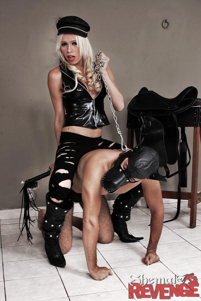 Kinky Ladyboy Tortures Her Fuck Slave