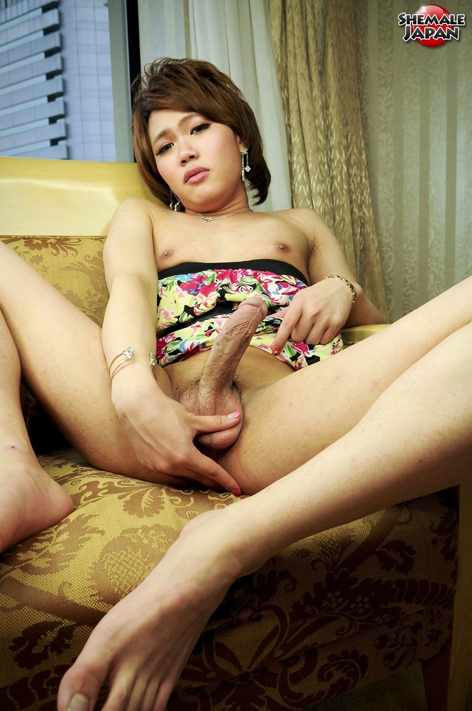 Kristel Kisaki Caressing Her Dick In Pantyhose