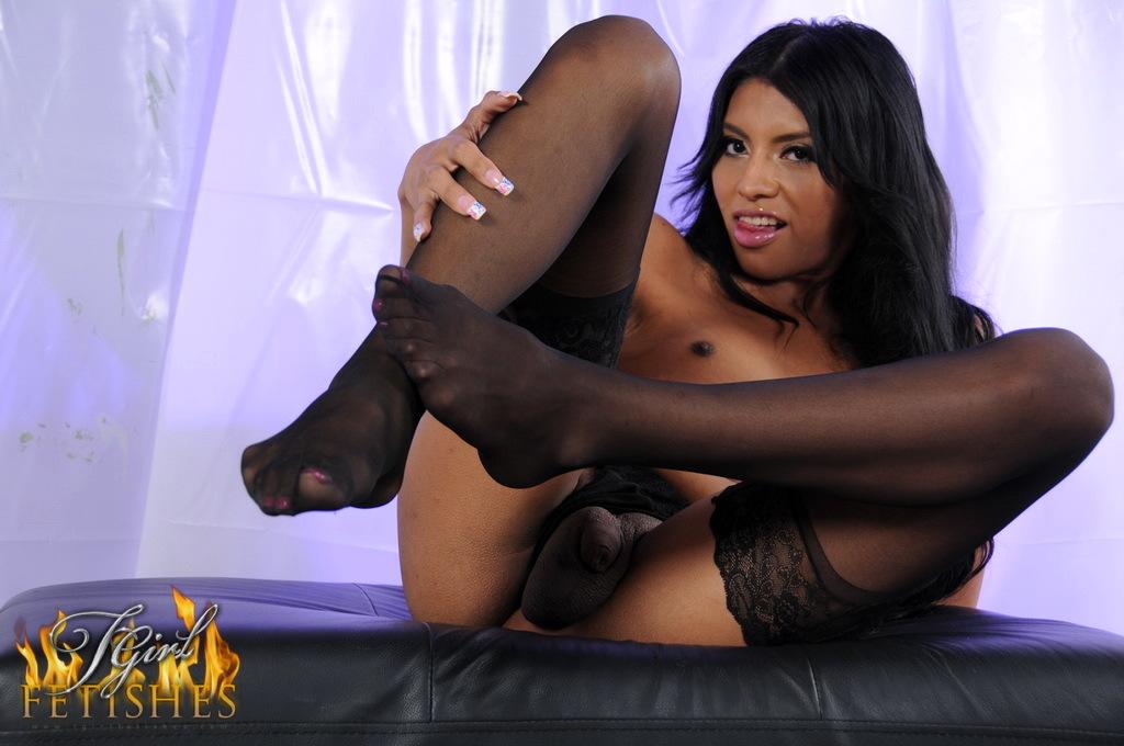Ladyboy Natalie Foxx Racy Panties