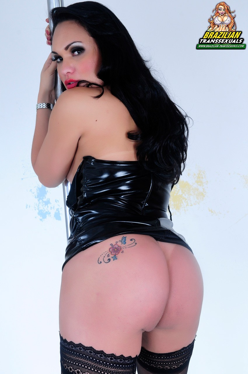 Laura Andrade In Beautiful Stockings And Black Fetish Skirt