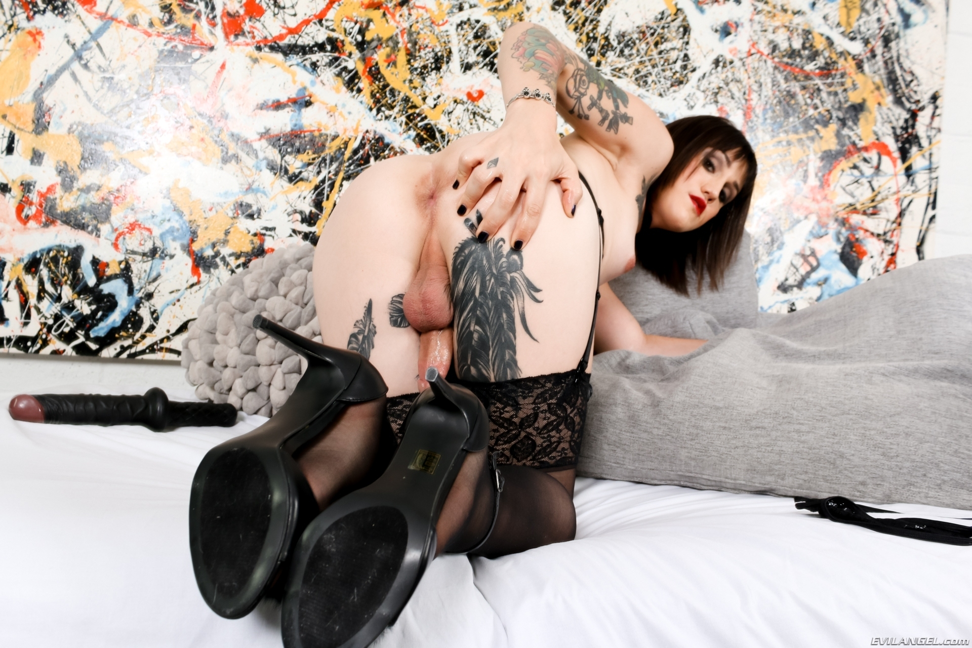 Lena Jade In Black Panties Toying Her Asshole