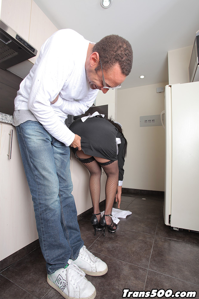 Luz Adriana Is Horny Tgirl Maid And She Is About To Ride A Massive Tool