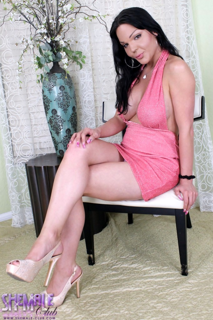 madison exotica sensual in pink skirt for a night oout