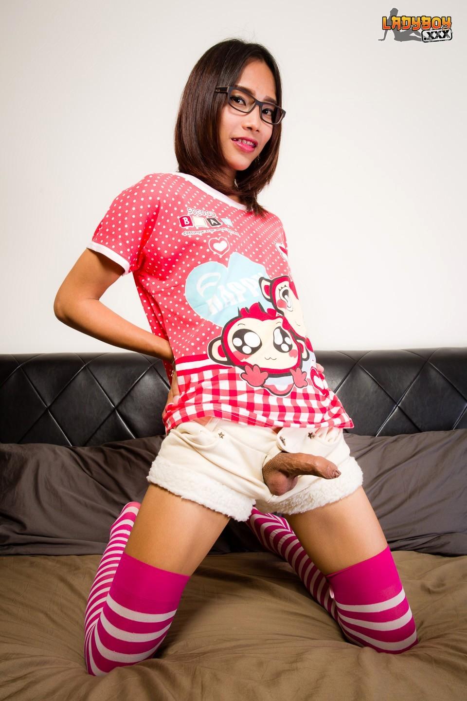 Mink TGirl Posing In Her Jamas