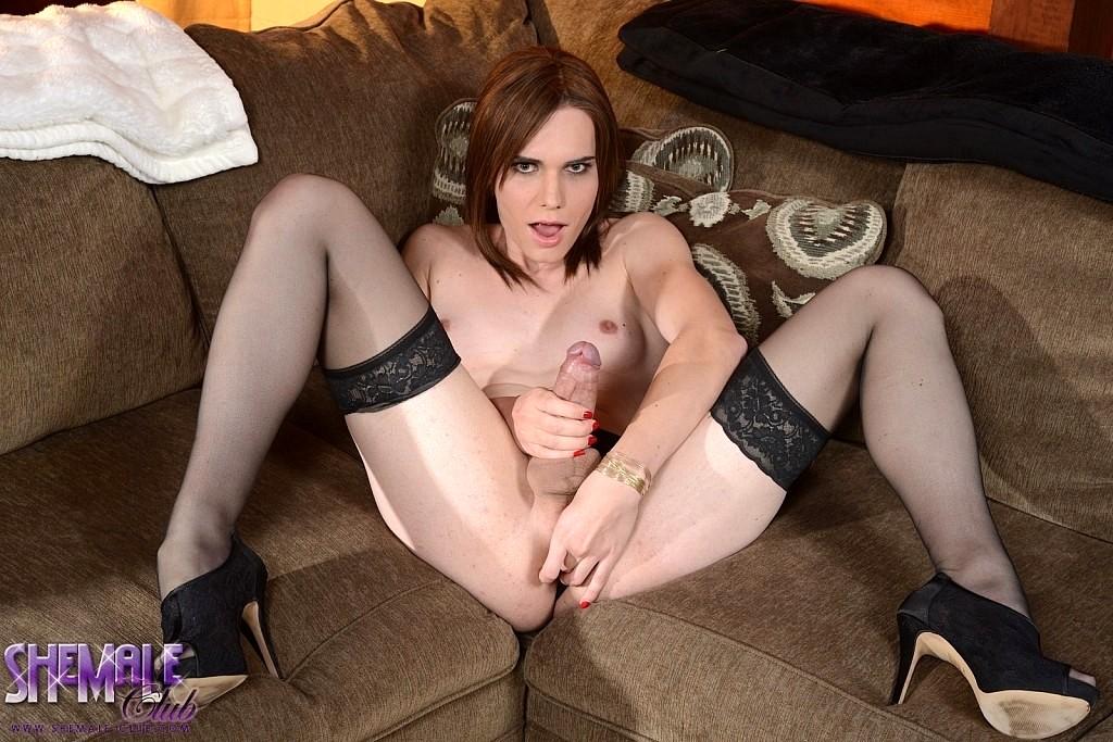 miranda stroking her thick penis