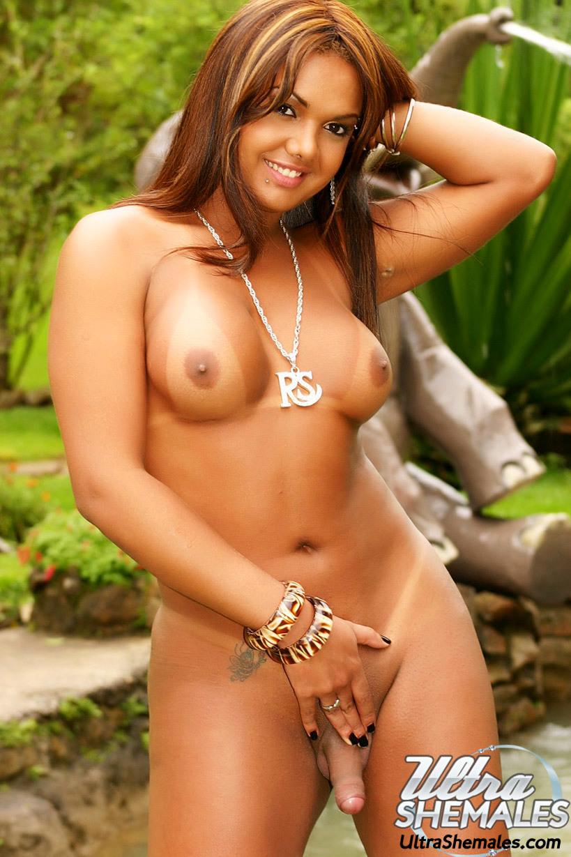 MY GOD! Incredible Tan Lines On This Arousing Brazilian T-Girl