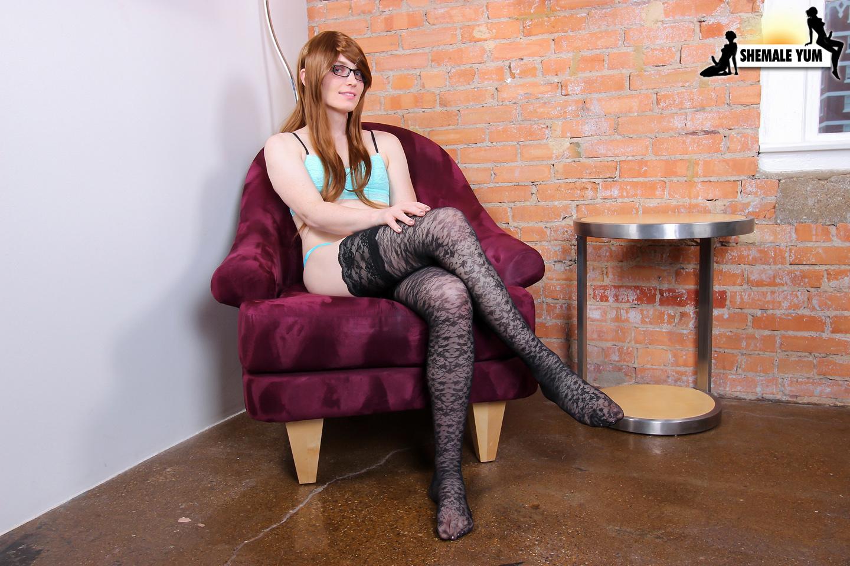 Natalie Mars In Hot Black Stockings
