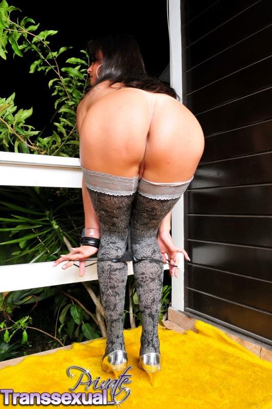 Natasha Rusthy In Suggestive Stockings