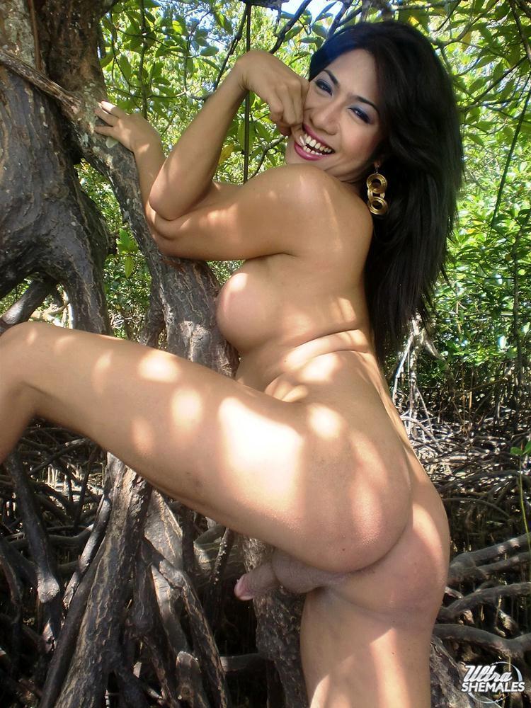 Nice Thai Ts Lorena With NICE TITS Strips Outside