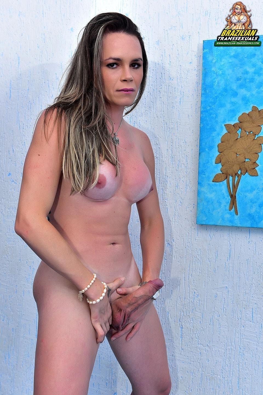 nice tinie transexual stroking her penis