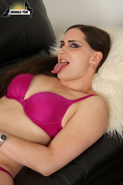 Nikki Dickie In Purple Lingerie