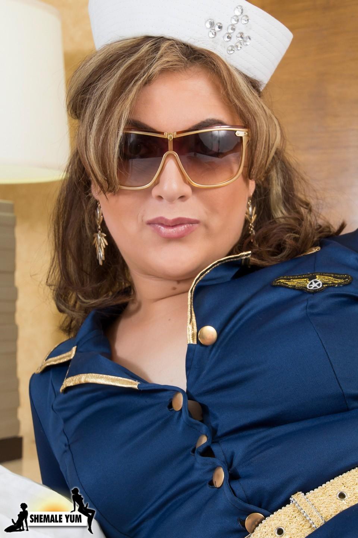 Provocative Flight Attendant Lexi Knight