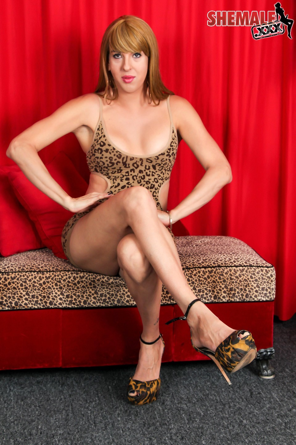 Provoking Janira In Animal Printed Outfit