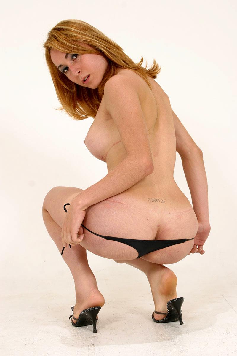 Sabrina Sherman Swimsuit And Heels