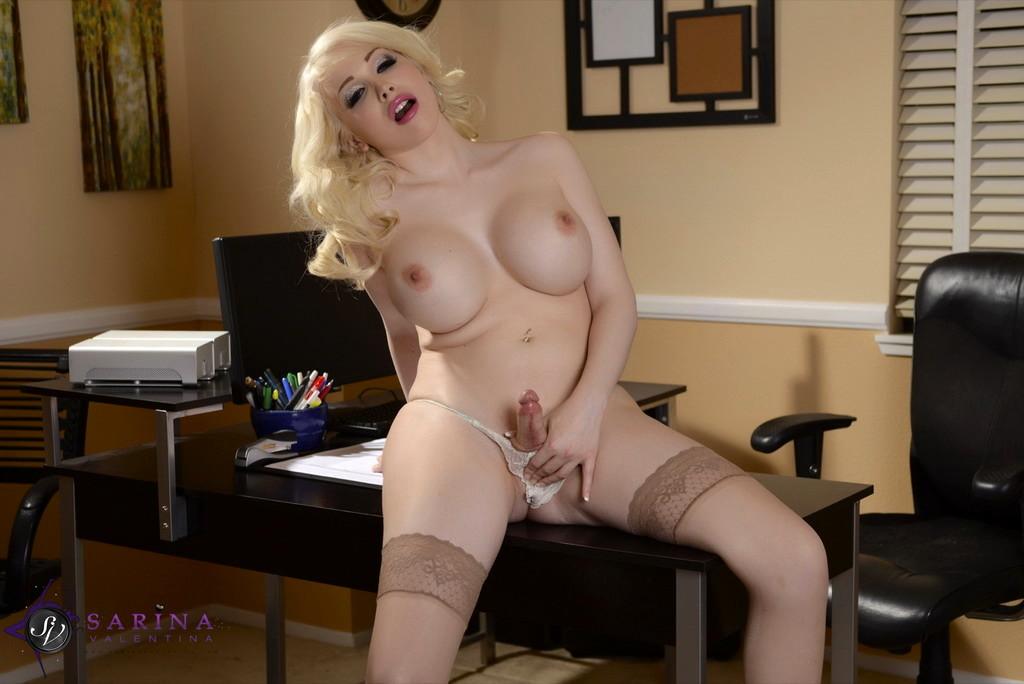 secretary sarina strokes in the office