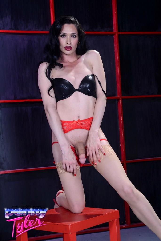 sensual penny posing her goodies in lingeire