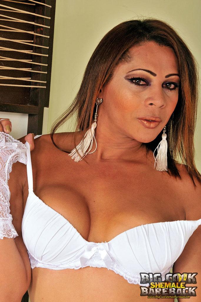 Sensual Priscila Gold In White Stockings Nailing