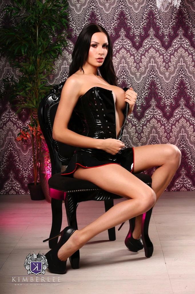 Sensuous Kimberlee In Miniskirt & Corset