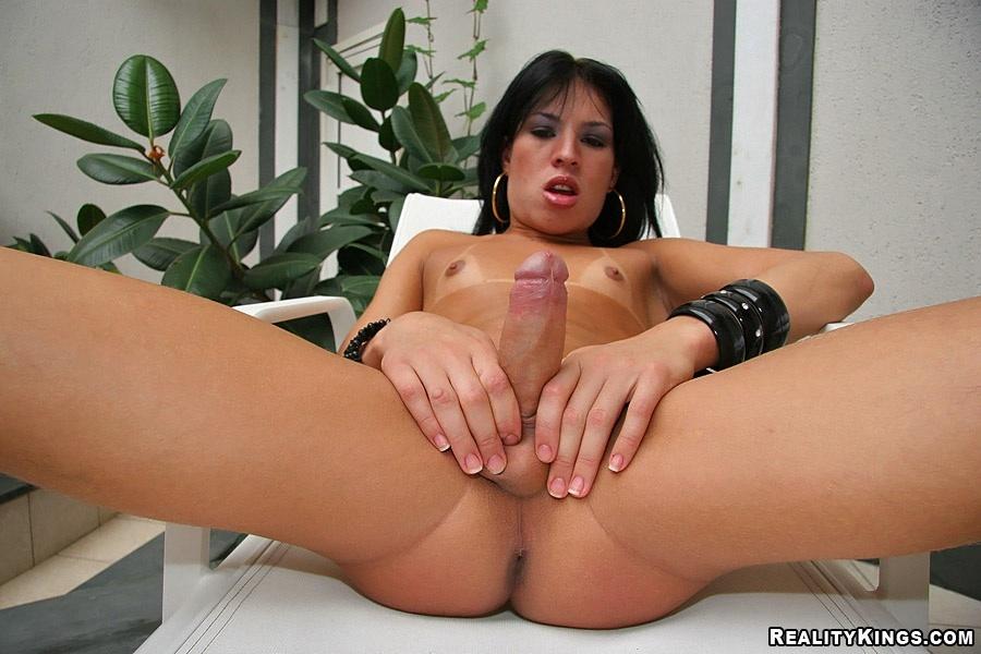 Shemale Allana Ribeiro Sensuous Babe Sucking Dick Dick