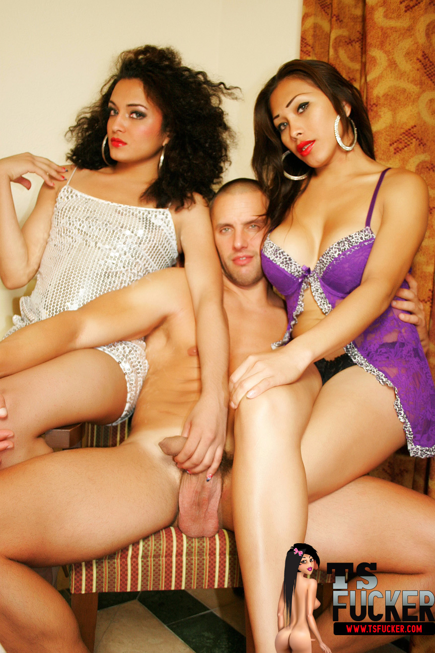 shemale fucker has two inviting femboys in his harem