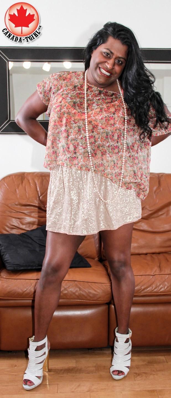 Sloane Titillating Ebony Ladyboy