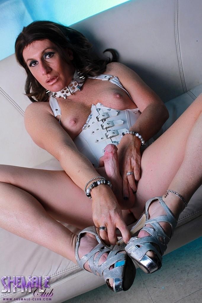 Slutty Reese Spreads & Rub's In Corset