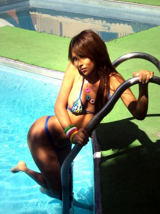 Soledad Cruz By The Pool In Swimsuit